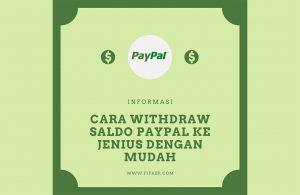 Cara withdraw saldo paypal ke JENIUS